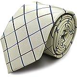 MICHIKO LONDON【ミチコロンドン】ブランドネクタイ シルク100% ジャガード織 チェック 格子柄 刺繍