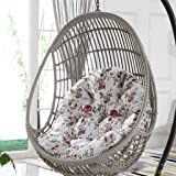 Hanging Rattan Swing Chair Pads Egg Shaped Chair Cushion ,Outdoor/Indoor Garden Patio Furniture(No Chairs, Only Cushions) D5/