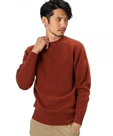 Shaggy Dog Wool Crewneck Sweater 3213-399-0427: Brick