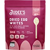 Judee's Egg White Protein Powder (2.2 lbs) Keto, Non GMO, Dairy Free, Soy Free. 20g Protein Per Serving. Dedicated Gluten & N