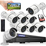 【2019 New 8CH Expandable】 Wireless Security Camera System,OHWOAI 1080P NVR 8Pcs 960P Home Surveillance IP Cameras,HD Outdoor