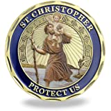Patron Saint of Travelers Prayer Commemorative Coin St Christopher Challenge Coin for Man
