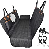 OKMEE 3-in-1 Dog Car Seat Cover, Convertible Dog Hammock Scratchproof Nonslip Pet Seat Cover with Mesh Window Side Flaps for