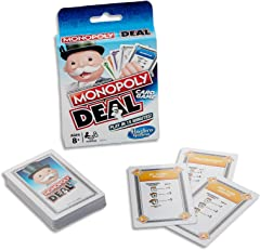 Monopoly Deal Card Game for Family and Children Aged 8 and Up