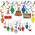 30CT Gone Fishing Party Hanging Swirl Decorations Kit Kids Little Fisherman The Big One Birthday Baby Shower Photo Props Summ