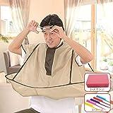 ヘアエプロン 散髪ケープ 散髪マント 防水 折り畳み可能 コンパクトに収納 防水 静電防止
