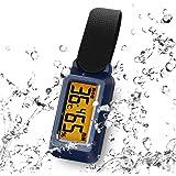ドリテック(dretec) 温湿度計 ブライン 防滴 熱中症/インフルエンザ警告レベル表示 時計機能 バックライト ポータブル O-299NVDI ネイビー