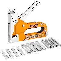 INGCO ガンタッカー 3in1 ハンドタッカー 替針600本付き ステープルガン HSG1405