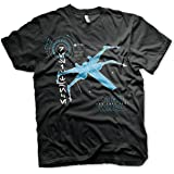 STAR WARS Officially Licensed The Last Jedi S-X-378 X-Wing Men's T-Shirt (Black)