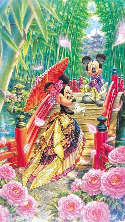 ディズニー ミニーの和モダンウエディング XFVGA(480×854)壁紙 画像40971 スマポ