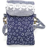 Yingkor Cotton Floral Printed Women Cell Phone Wallet Small Cross Body Crossbody Purse Pouch Bags