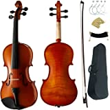 Aliyes Premium Violin 4/4 Full Size Professional Student Violin For Beginner Solid Wood Violin Kit String,Shoulder Rest,Rosin