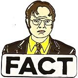 WizardPins The Office Dwight Shrute Fact Funny TV Series Enamel Lapel Pin