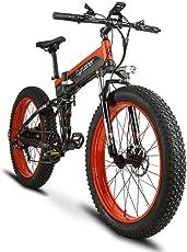 Extrbici XF690 FATBIKE ファットバイク スノーバイク 折りたたみ自転車 EBIKE シマノ7段変速 極太タイヤ 500W / 48V電機 雪道 悪路  スピード計付属