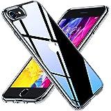 TORRAS 強化ガラス iPhone se2 用 ケース iPhone8 用 ケース iPhone7 用 ケース 2021 薄型 旭硝子9H 10倍黄変防止 軽量 レンズ画面保護 アイフォン SE SE2 7 8 用カバー (クリア)