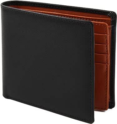 【Avangly】二つ折り 財布 本革 大容量 メンズ ボックス型小銭入れ 隠しポケット付き 二つ折り財布