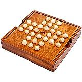 [moonfarm] 木製 ペグソリティア ボールソリティア ボードパズル ボード ボール ゲーム クラシックパズル 一…