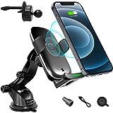 ATOTO Freeholder 01 車のワイヤレス電話充電器ホルダー-ダッシュボード/エアベント/ウィンドシールドマウント-Qi対応電話に適しています(iPhone 12/12 Pro / 12 Pro Max / Sony Xperia XZ2