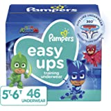 Pampers Easy Ups Training Pants Boys and Girls, Size 7 (5T-6T), 46 Count