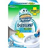 スクラビングバブル トイレ洗浄剤 トイレスタンプ 漂白成分プラス ホワイティーシトラスの香り 本体 (ハンドル1本+付替…