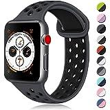 ATUP コンパチブル Apple Watch バンド 42mm 38mm 44mm 40mm、ソフトシリコン交換用リス…