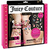 Make It Real - Juicy Couture Pink and Precious Bracelets - DIY Charm Bracelet Kit with Beads for Tween Jewelry Making - Jewel