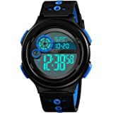 Boys Military Camo Digital Watch, Kids Colorful LED Outdoor Sports Waterproof Wristwatches with Alarm Clock Calendar Stopwatc