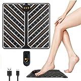 フットマット EMS スタイルマット USB充電式(2020年最新版)乗るだけ簡単 美脚のトレーニング EMSマシン 脚痩せ 歩く力を鍛える 6種類のモード 15段階調整可能 持ち運び便利 ふくらはぎ 脚マッサージ 太もも痩せ グッズ ダイエット器具 男女兼用 オレンジ
