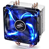 DEEPCOOL GAMMAXX 400 CPU Air Cooler with 4 Heatpipes 120mm PWM Fan and Blue LED for Intel/AMD CPUs (AM4 Compatible)
