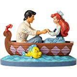 Jim Shore Disney Traditions Enesco Ariel and Prince Eric in Rowboat Figurine