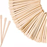 Mibly Wooden Wax Sticks - Eyebrow, Lip, Nose Small Waxing Applicator Sticks for Hair Removal and Smooth Skin - Spa and Home U