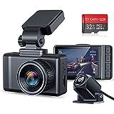Changer ドライブレコーダー 前後カメラ 2021最新版超鮮明リアカメラ GPS搭載 1296PHD高画質 HDR/WDR搭載 Sonyセンサー 170度広角視野 24時間駐車監視 Gセンサー 高温対応 バック連動 小型 ドラレコ 32GB S