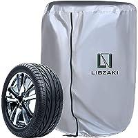 LIBZAKI タイヤカバー 210D 厚手 収納カバー 幅65×高さ90 雨よけカバー S(シルバー)【2020改良】