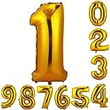 CCINEE 90cm 数字1 風船 数字バルーン ゴム風船 誕生日 パーティー飾りに