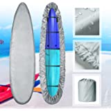 Kayak Canoe Cover, Storage Dust Cover Waterproof Sunblock & UV Wind Protection Cover Sunlight Shield for Fishing Boat Kayak C