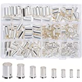 RockDIG 300Pcs 12 10 8 6 4 2 1 2/0 Wire Ferrule Tinned Copper Crimp Connector Electrical Cable Pin Cord End Terminal 8 Sizes