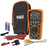 Digital Multimeter, Auto-Ranging, 1000V, Measures up to 1000V AC/DC voltage, Klein Tools MM600