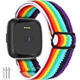 Limque Stretch Watch Bands Compatible with Fitbit Versa/Versa 2/Versa Lite/SE,for Women Men Soft Adjustable Elastic Replaceme