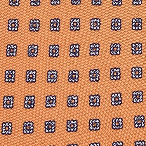 MEROLA BLUE LABEL ネクタイ オレンジ×スクエア花柄 BL235