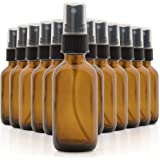 1790 Amber Glass Essential Oil Bottles, 2 oz Small Glass Bottles, Glass Bottles for Essential Oils- BPA Free - Toxin Free - M