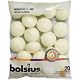 Bolsius Floating Candle, Ivory,Paraffin Wax, 30 x 45 mm