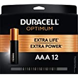 Duracell Optimum 1.5V Alkaline AAA Batteries, Convenient, Resealable Package