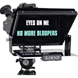 Large Portable 12-inch teleprompters Suitable for DSLR and camcorders, Optical Splitter Glass and Good for Tablets and Smartp