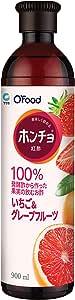 大象ジャパン ホンチョ 「紅酢」 いちご&グレープフルーツ味 容量900ml @ 韓国食品 @ 韓国食材 @ 紅酢 @ホンチョ @美味しい紅酢 @ 韓国茶