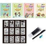 MRRY English Sank Magic Practice Copybook, Calligraphy Copybook Book Magic Calligraphy Copybook Set Practical Reusable Writin