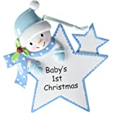 Baby's 1st Christmas Ornament Baby Boy/Girl Star Christmas Personalized Gift(Blue)