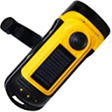 PrimalCamp Hand Crank Solar Powered Flashlight: Rechargeable Survival Gear LED Self Powered Charging Torch & Dynamo - Best fo