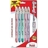 Pentel Sunburst Metallic Gel Pen, Medium Line, Permanent, Assorted Ink, 5 Pack (K908MBP5M)