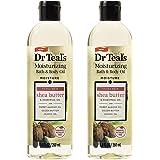 Dr. Teal's Moisture + Ultra Rich Shea Butter & Essential Oil Moisturizing Bath & Body Oil 8.8oz Pack of 2