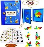 木製ジグソーパズル磁気パズルシェイプブロックジグソーブックブレインティーザースタッキングゲーム早期教育学習チャレンジIQおもちゃギフトキッド幼児年齢3+歳